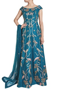 blue-zardosi-embellished-anarkali-with-dupatta