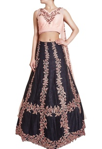 black-blush-pink-zardosi-lehenga-set