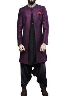 purple-hand-embroidered-sherwani