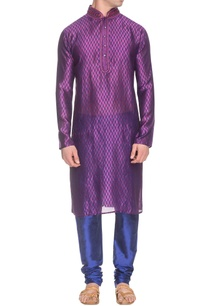 purple-blue-kurta-set-with-printed-details