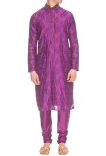 purple-kurta-set-with-embellished-neck
