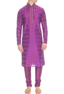 purple-thread-embroidered-kurta-set