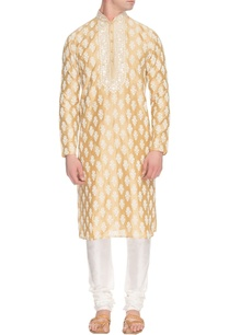 yellow-kurta-set-with-white-motifs