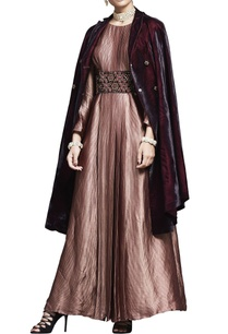 plum-velvet-jacket-with-embroidered-belt