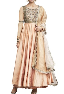 peach-embroidered-anarkali-set