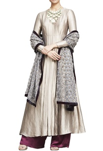 grey-banarasi-zardosi-work-kurta-set