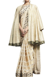 ivory-beige-embroidered-handloom-sari-with-blouse