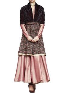 plum-velvet-embroidered-wrap-with-belt