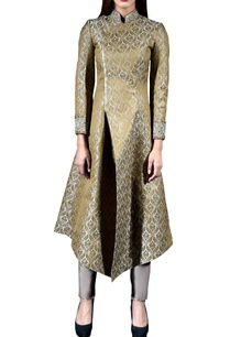 golden-brocade-jacket-pant-set