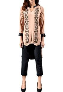 beige-layered-embellished-tunic
