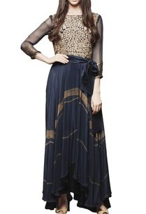 navy-blue-tunic-with-embroidered-yoke