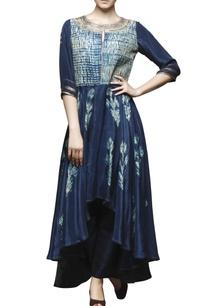 peacock-blue-shibori-embroidered-tunic