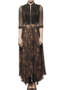 black-embroidered-printed-anarkali-with-pants