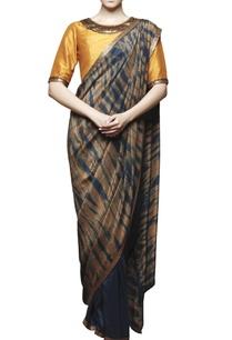 indigo-sari-with-embroidered-blouse