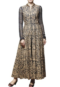 navy-blue-embroidered-anarkali