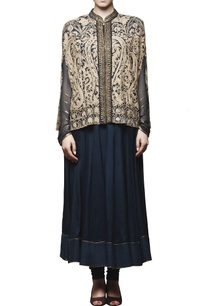 navy-blue-embroidered-anarakli-with-cape