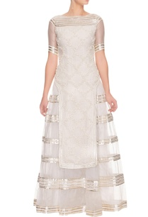ivory-tiered-embroidered-kurta-with-lehenga