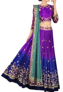 blue-shaded-zardozi-embroidered-lehenga-set