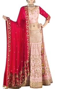 baby-pink-red-embroidered-lehenga-set