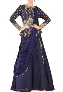 midnight-blue-embroidered-lehenga-set