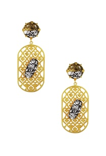 black-white-enamel-finish-drop-earrings