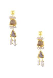 white-enamel-finish-drop-earrings