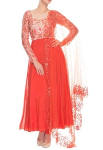 white-and-red-floral-embroidered-anarkali-set