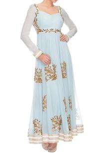blue-georgette-floral-motif-anarkali-kurta