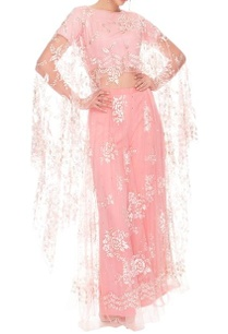 pink-palazzo-top-set-with-floral-cape