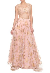 pink-embroidered-crop-top-and-lehenga-with-jacket