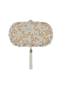 beige-pearl-embellished-oval-clutch