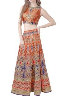 orange-violet-embellished-lehenga-choli