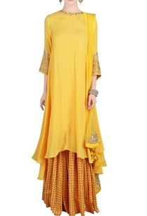 yellow-embroidered-kurta-and-palazzo-set