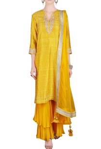 yellow-printed-sequin-embroidered-kurta-set