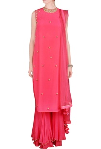 pink-sequin-embellished-kurta-set