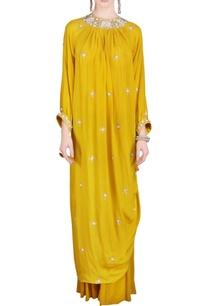 mustard-embellished-tunic-with-sharara