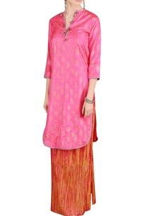 pink-orange-kurta-and-palazzos