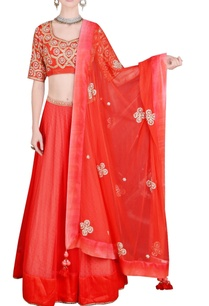 bright-orange-embroidered-lehenga-set