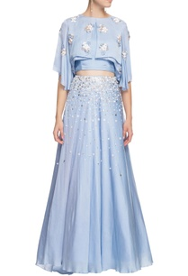 serenity-blue-cape-top-with-skirt