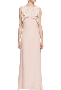 powder-pink-pearl-work-maxi-gown