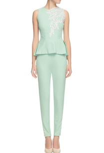 sage-mint-peplum-top-pant-set