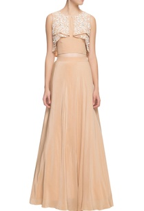 beige-embellished-lehenga-with-top