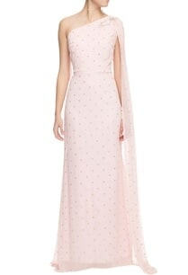 powder-pink-one-shoulder-sequinned-gown