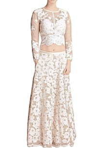 white-floral-applique-skirt-with-crop-top