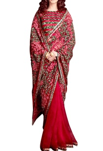 bandhani-applique-sari-with-blouse
