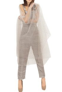 grey-raw-silk-jumpsuit-with-an-embellished-stole