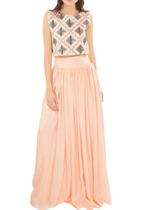 blush-pink-embroidered-top-with-pleated-skirt