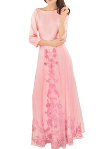 baby-pink-applique-work-skirt-with-top