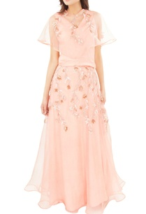 peachy-pink-embroidered-top-with-skirt
