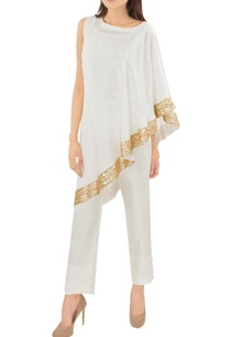 white-sari-dress-with-trousers